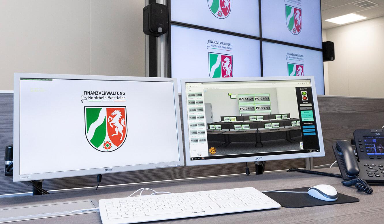 JST Rechenzentrum Finanzverwaltung NRW: Leitstand. Grafische Bedienoberfläche zur Steuerung der Leitwartentechnik