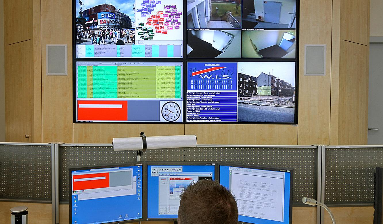 JST Referenzen - W.I.S. Security Halle - Sicherheitszentrale