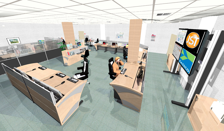 JST Referenzen - Gassco Dornum - Neue Leitwarte. Fotorealistische 3D-Planung