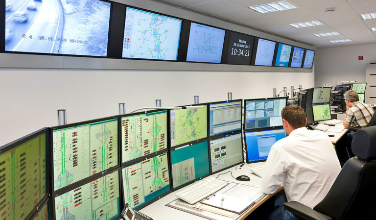 JST - Verkehrszentrale NRW: Kontrollraum. 3d-Planung umgesetzt