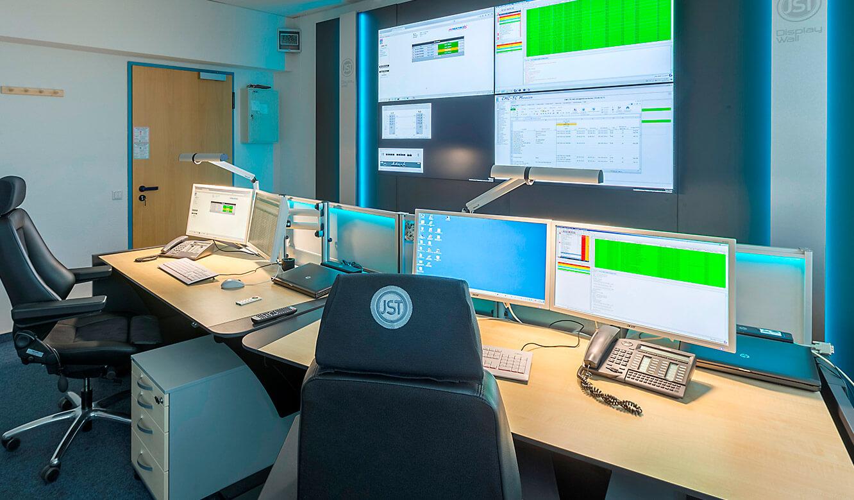 JST Dataport Blick in die neue Leitstelle mit Großbildwand