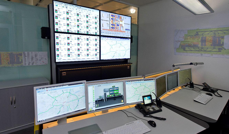 JST-Flughafen München: Großbildwand im neuen Kontrollraum
