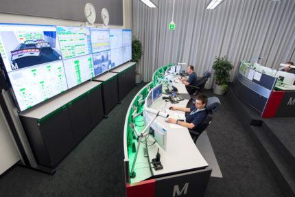 JST-Flughafen-Muenchen: Blick in die neue Technik-Leitwarte