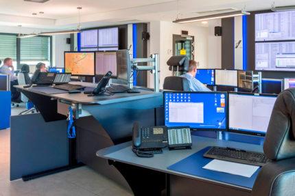 JST-Niedersächsische Wach- und Schließgesellschaft: Blick in die Alarmempfangsstelle