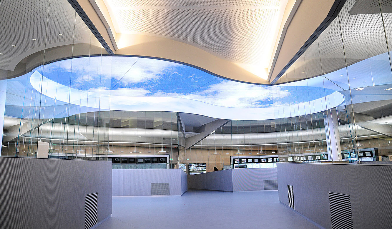 JST - PCK Schwedt: Blick in die Leitwarte mit dem Virtual-Sky