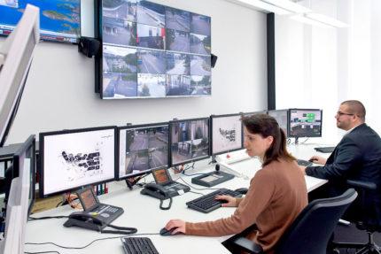 JST Referenzen - SAG Nürnberg - Blick in den Kontrollraum