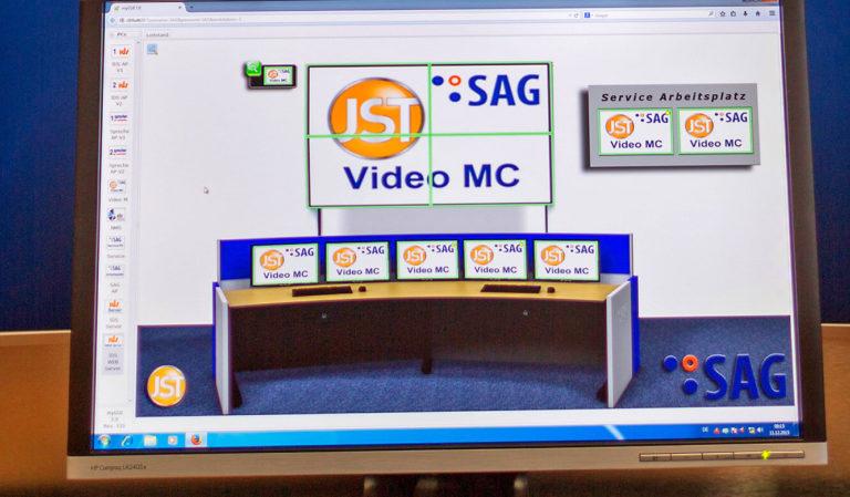 JST-SAG-Berlin: Oberfläche der Software für das MultiConsoling