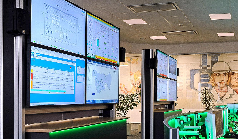 JST-DREWAG: zwei DisplayWalls sorgen für perfekten Überblick