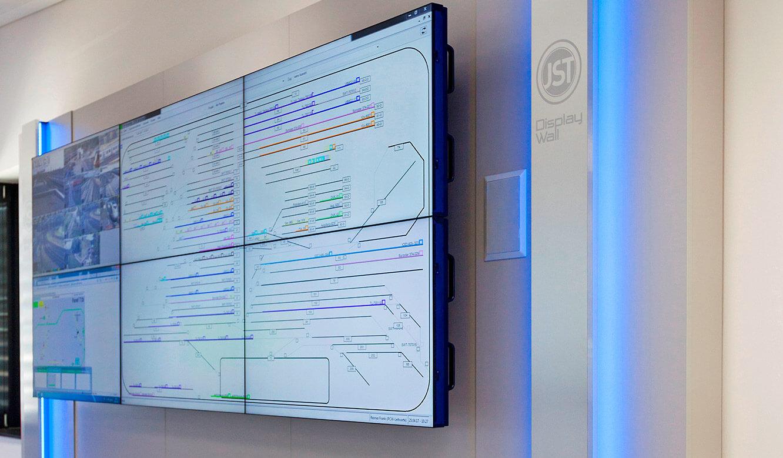 JST-Siemens Wegberg: DisplayWall in moderner Optik