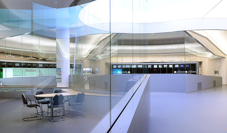 JST - PCK Schwedt: visuelle Kommunikation druch entspiegelte Glasscheiben möglich