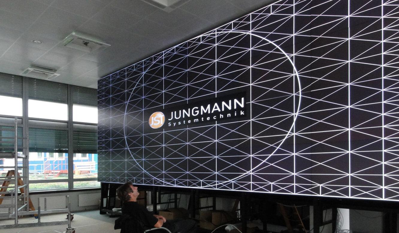 JST - Polizei Hamburg: Verkehrsleitzentrale. Umbau. Kalibrierung der Großbildwand