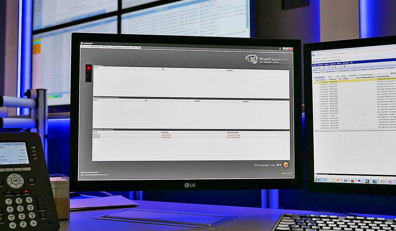 JST-Netcologne: Oberfläche der Überwachungssoftware Pixel-Detection auf Arbeitsplatzmonitor
