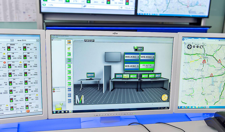 JST-Flughafen München: Bedienoberfläche der myGUI-Software