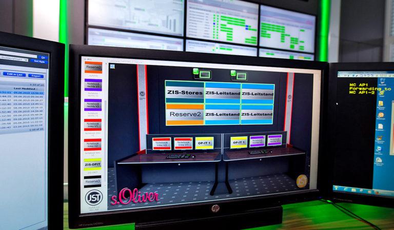 JST - s.Oliver: Arbeitsplatzmonitore mit myGUI-Software zur Steuerung der Großbildtechnik