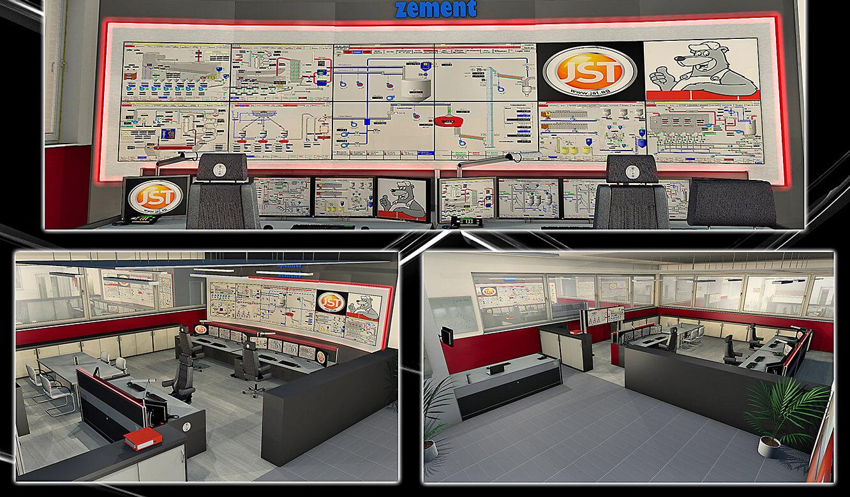 JST-Spenner Zement: Leitstand. Planung. Photorealistische 3D-Zeichnungen