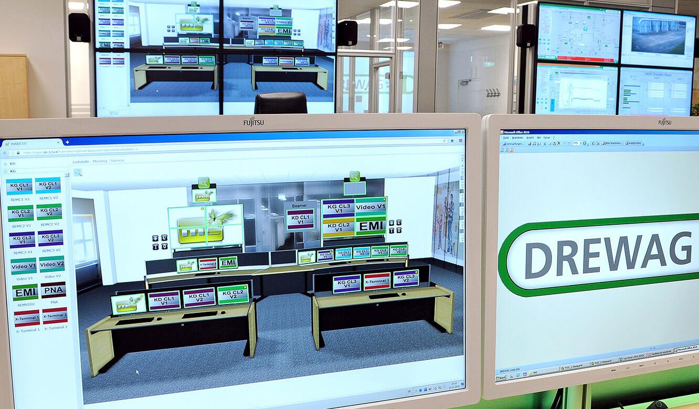 JST-DREWAG: Bedienoberfläcke myGUI für das MultiConsoling