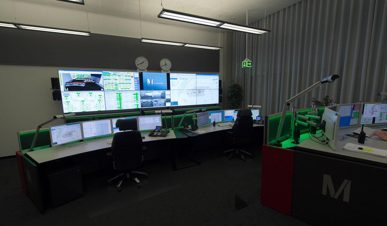 JST-Flughafen-München: Ambientlight-Beleuchtung in der Technik-Leitwarte