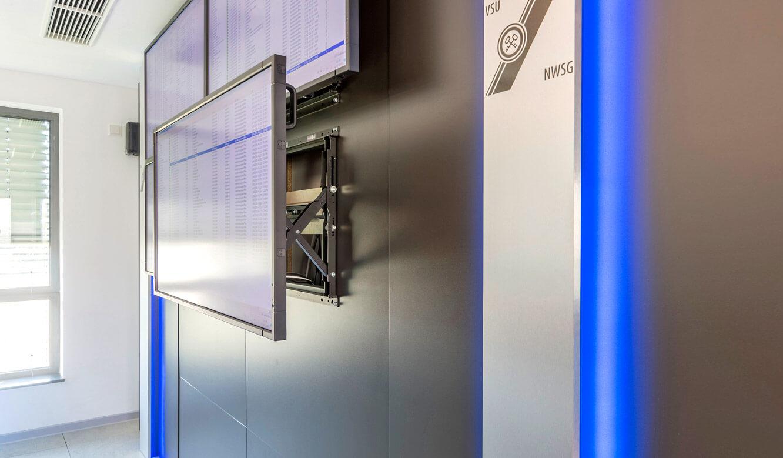 JST-Niedersächsische Wach- und Schließgesellschaft: perfekte Service-Zugänglichkeit durch revisionsfreundliches Montagesystem