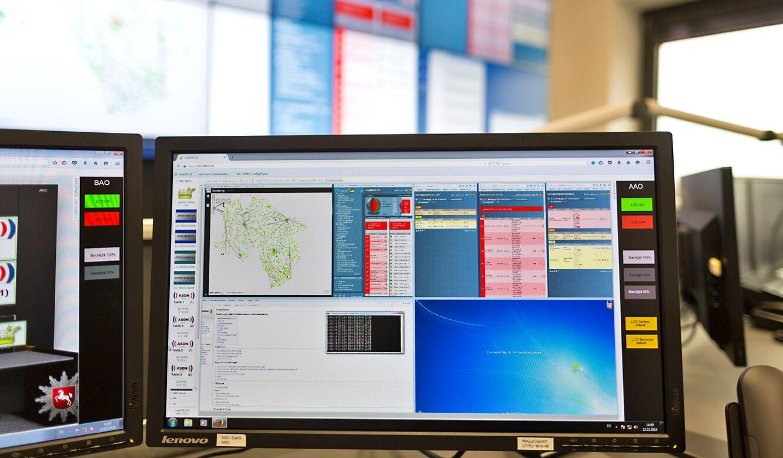 JST - Autorisierte Stelle Digitalfunk Niedersachsen: Cockpitview. Verschiedene Applikationen auf einem Dashboard