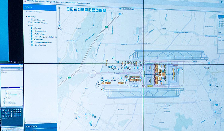 JST-Flughafen-München: extraschmale Rahmen ideal für BigPicture-Darstellungen