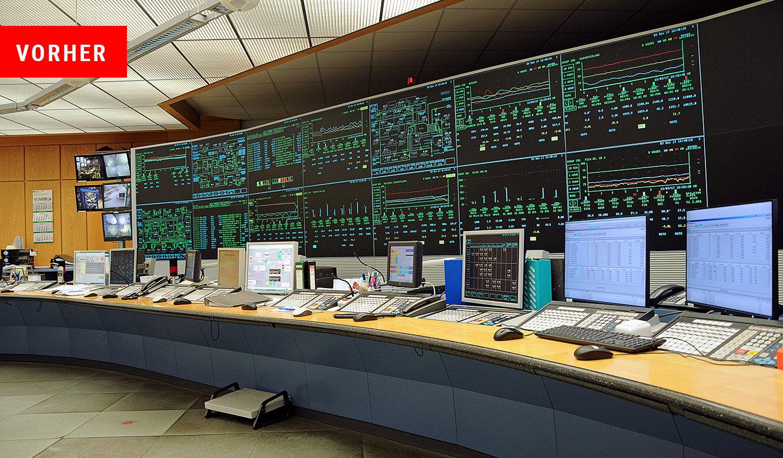 JST - PCK Schwedt: Zustand vor dem Neubau. Überwachung zu unübersichtlich