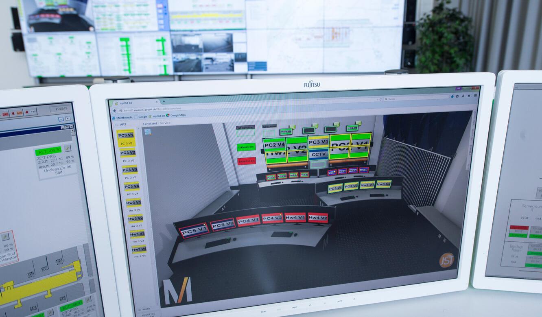 JST-Flughafen-München: Bedienoberfläche myGUI für das MultiConsoling