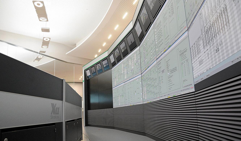 JST - PCK Schwedt: Großbildleinwand mit integrierter Klimatisierung und Belüftung