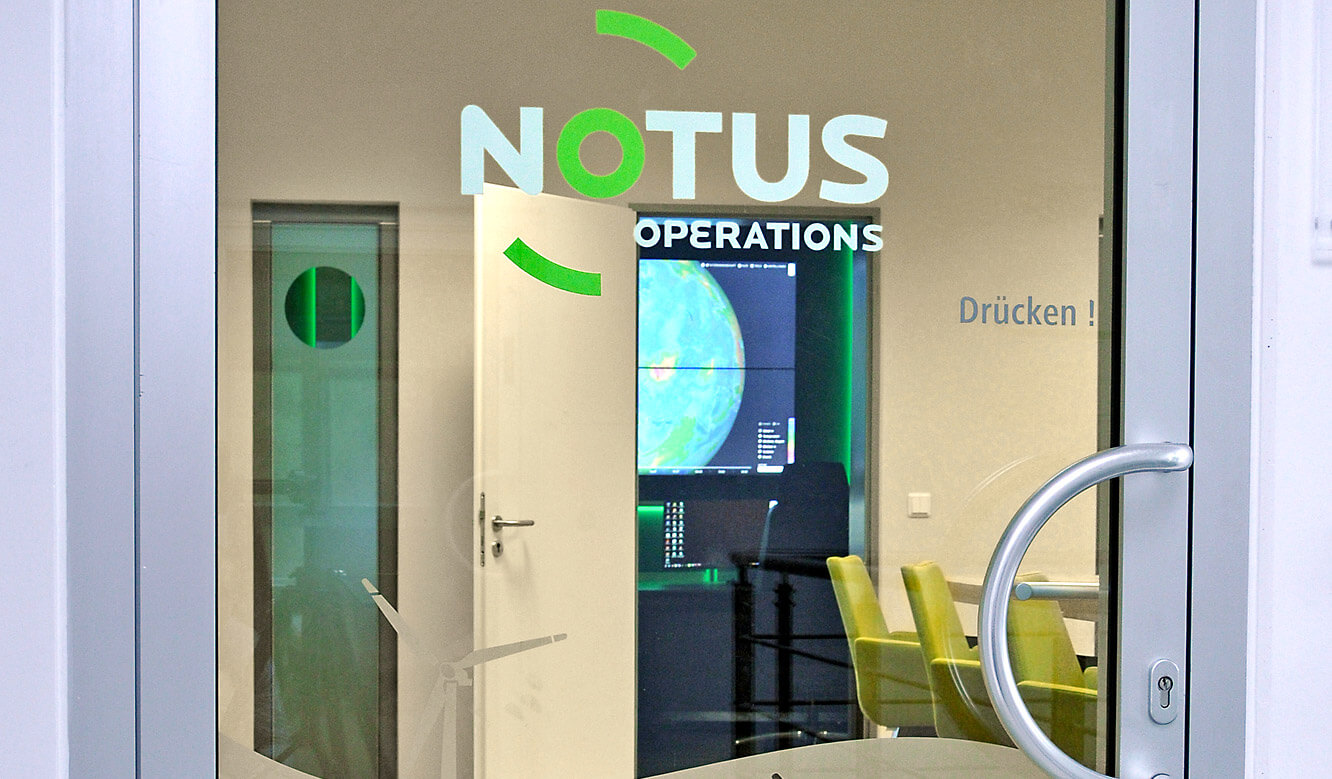 JST-Notus: Eingangsbereich zum Network-Operations-Center