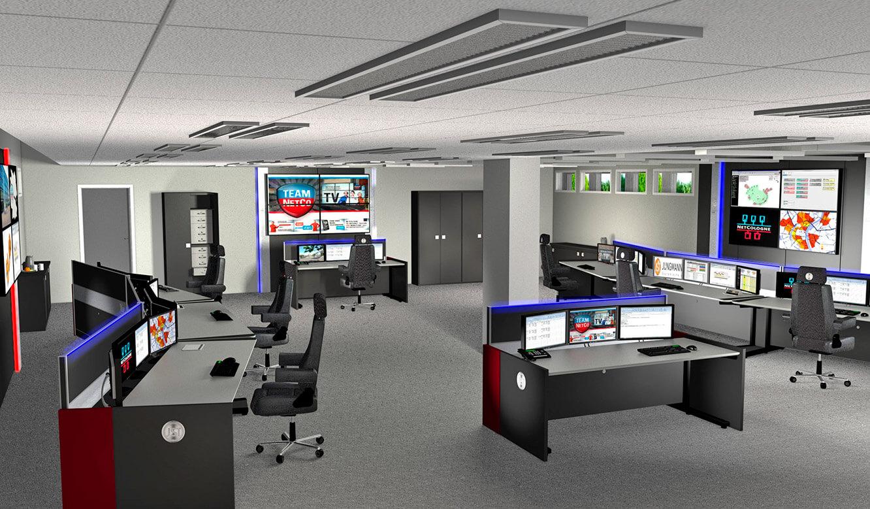 JST-Netcologne 3D-Zeichnung des geplanten Leitstandes