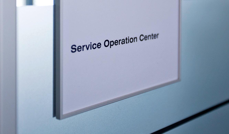 JST - Raiffeisen Graz: Schild Service Operation Center