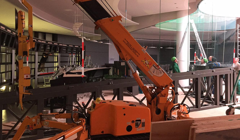 JST - PCK Schwedt: Arbeiten auf der Baustelle für die neue Messwarte