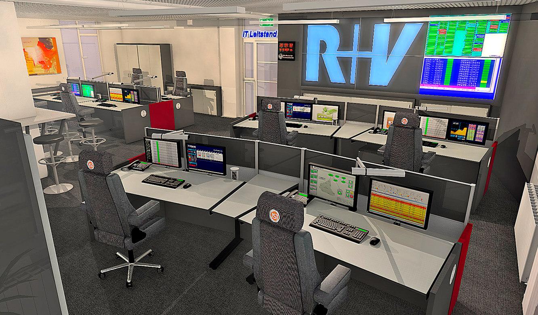 JST - R+V Versicherung - Leitstand - 3D-Planung