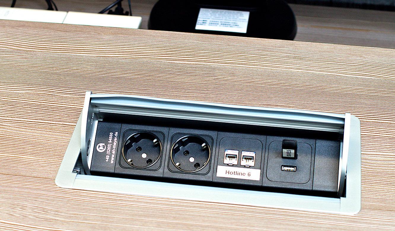 JST-Deutsche Windtechnik: Power-Port-Data-Box integrated into the desk
