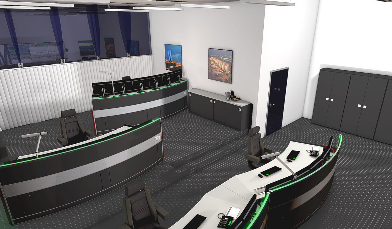 JST-Flughafen-Muenchen: 3D-Planung der Technik-Leitwarte