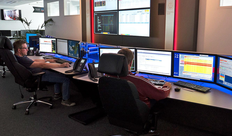 JST-Netcologne: moderner Kontrollraum mit AmbientLight