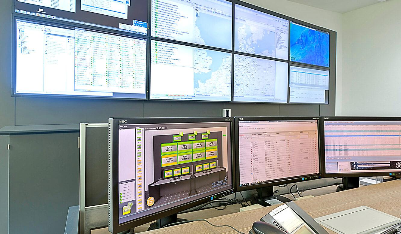 JST-Deutsche Windtechnik: Bildschirm mit myGUI-Software zur Steuerung MultiConsoling