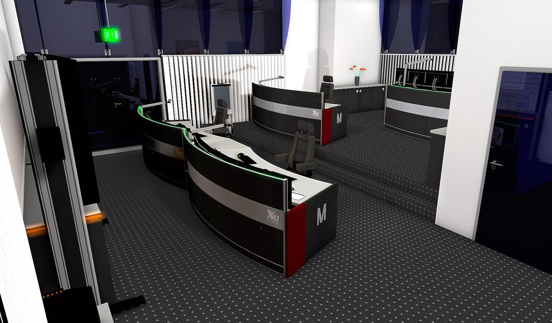 JST-Flughafen-Muenchen: 3D-Planung der Arbeitsplätze in der Leitwarte