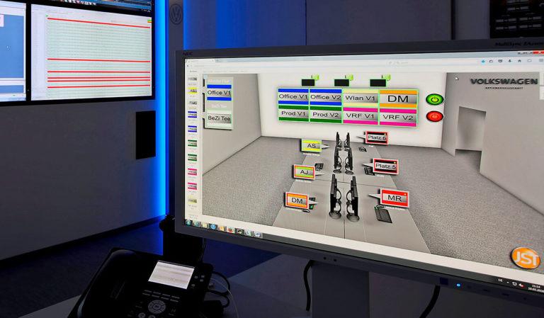 JST - Volkswagen Emden: myGUI-Bedienoberfläche für das MultiConsoling