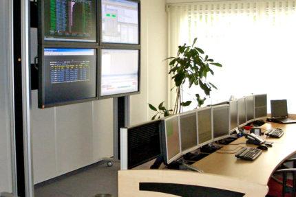 Deutscher Ring in Hamburg - Systems-Management-Leitstand von JST