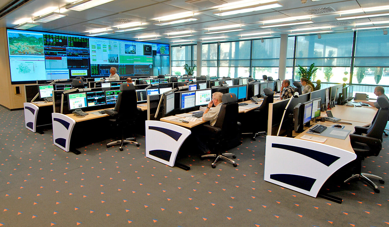 Fiducia Karlsruhe - System Control Center - Control centre