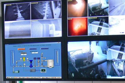 JST Referenzen - Lafarge Wössingen - LCD Großbildsystem