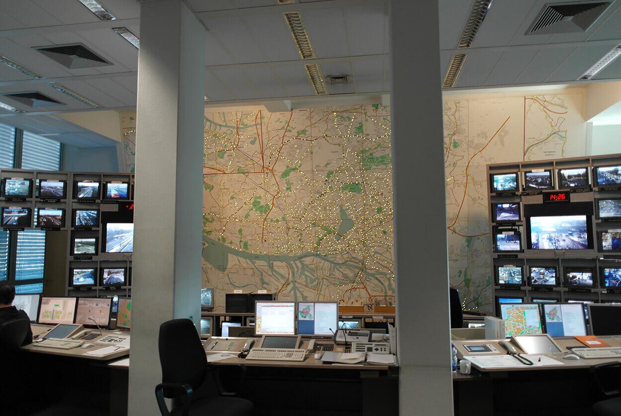 JST Polizei Hamburg - Verkehrsleitstelle vor der Modernisierung