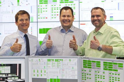 JST-AUDI MMS Leitstand -Projektleiter sind zufrieden