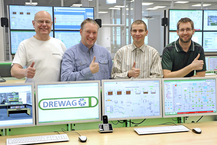 JST References - DREWAG control room employees are impressed by the new technology