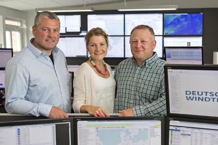 JST Referenzen - Deutsche Windtechnik - Projektleiter-Team zufrieden mit JST-Leistung
