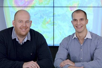 JST-windpunx: Projektleiter Jannic Jenzevski und Geschäftsführer Steffen Schroth