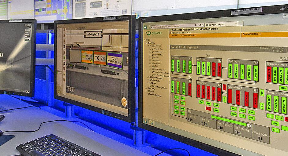 Die myGUI® Bedienung im Einsatz im Produktions-Leitstand der Audi AG