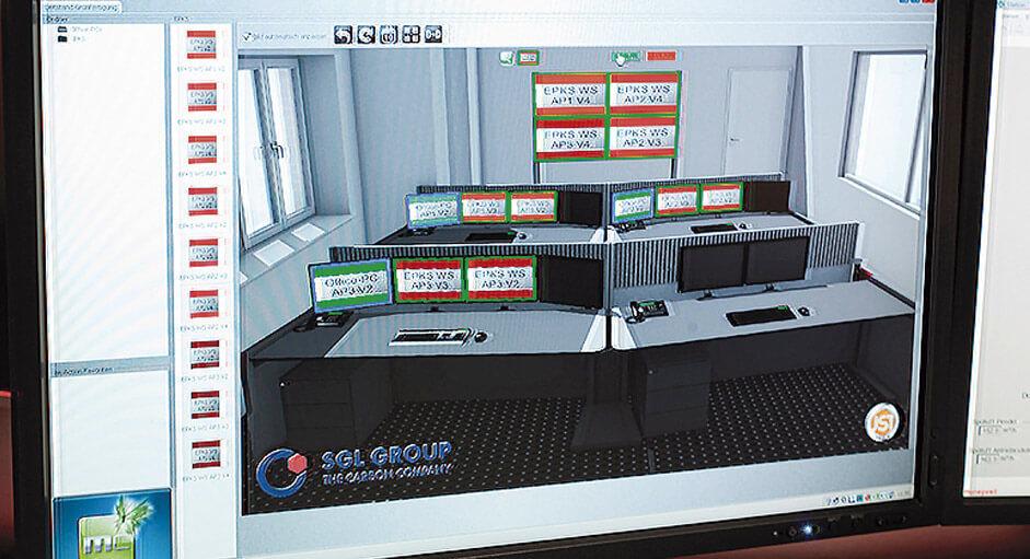 Die myGUI® Bedienung im Einsatz im Produktionsleitstand der SGL