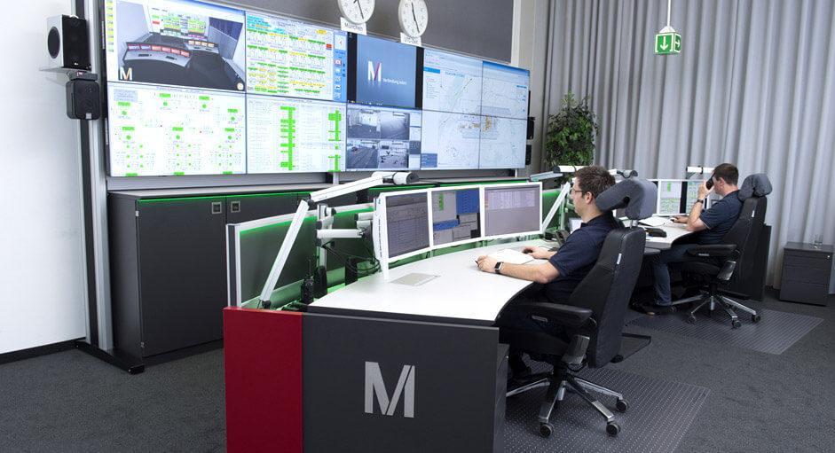 Die CommandBox im Einsatz in der Technik-Leitwarte beim Flughafen München