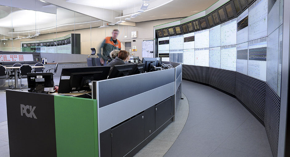 The CommandBox in use in the refinery control room at PCK